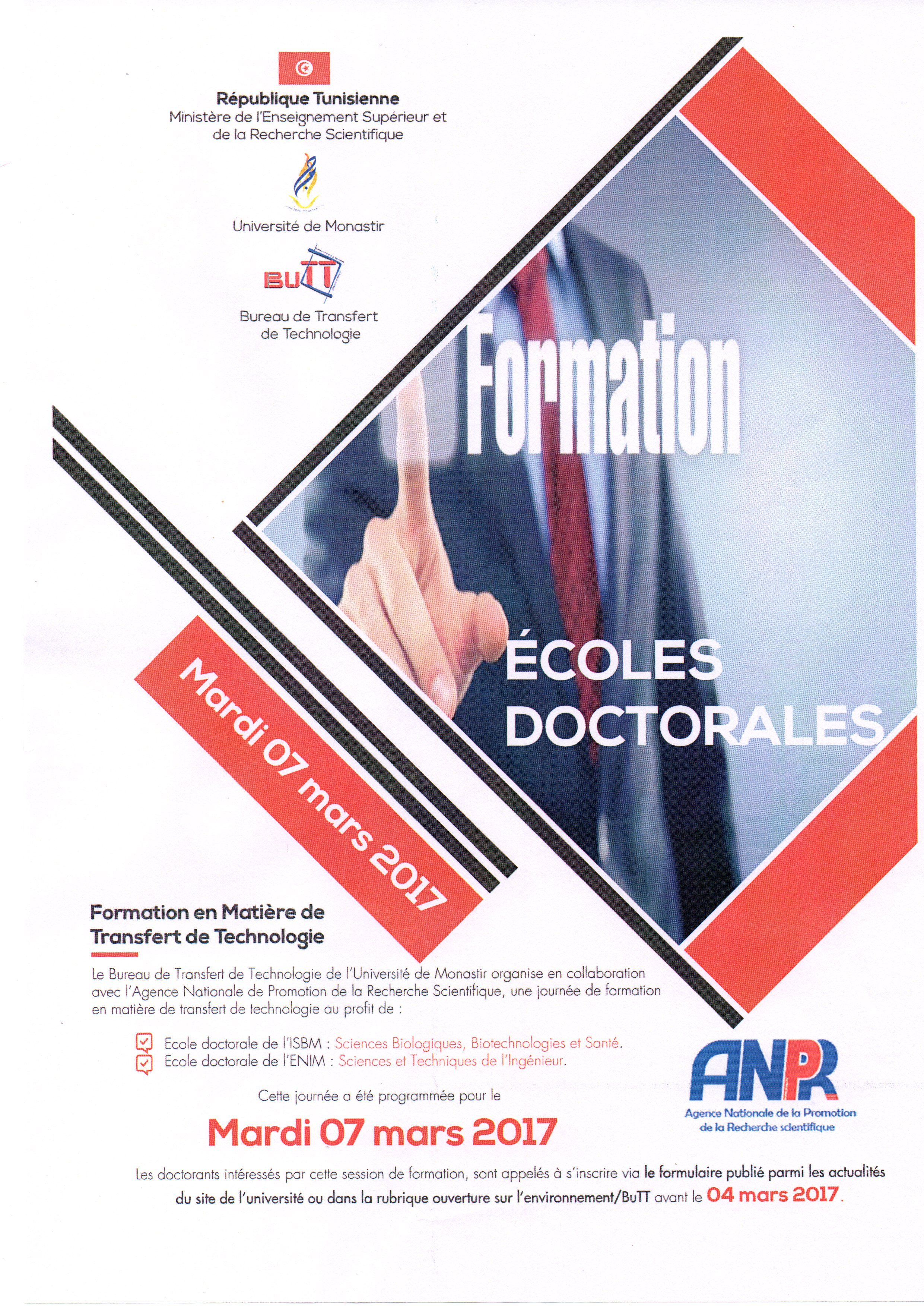 Formation école doctorales